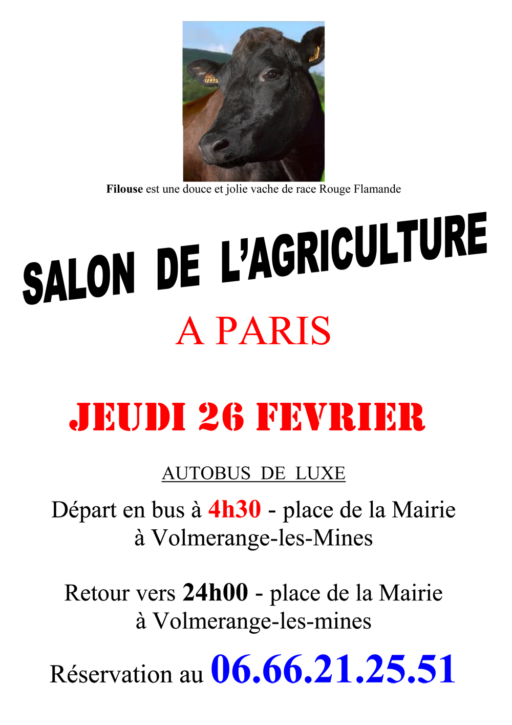 Salon de l agriculture volmerange les mines for Salon agriculture paris 2015