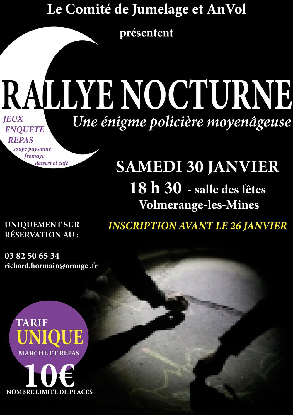 affiche rallye nocturne 2016