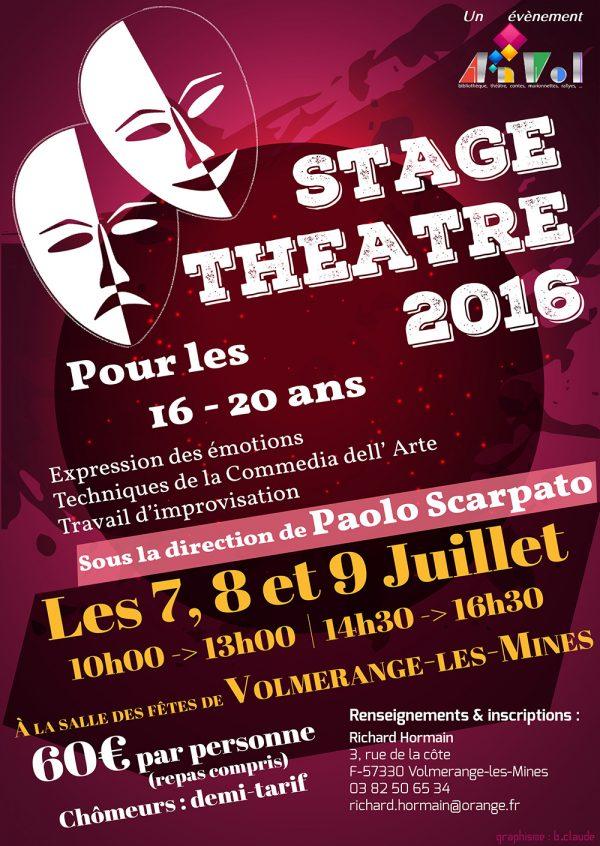Stage Théâtre 2016