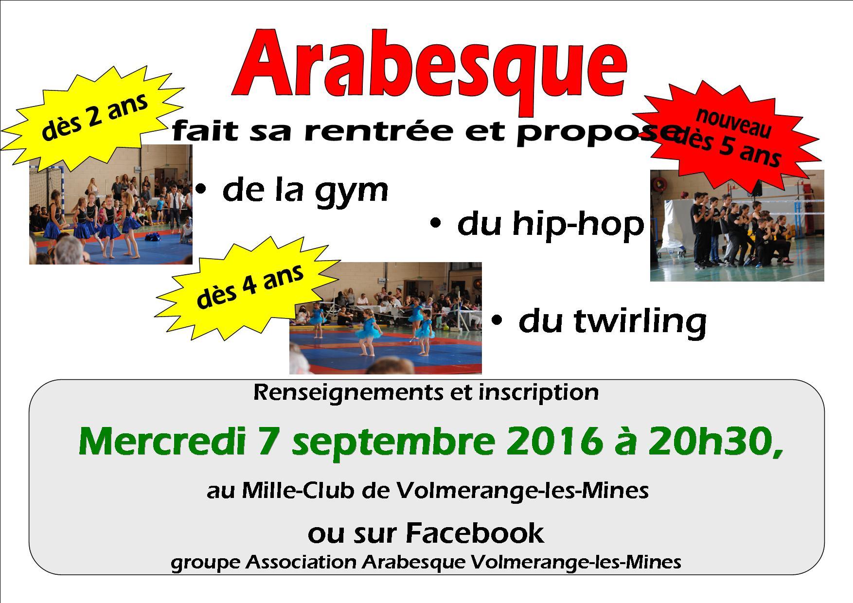 Annonce reprise Arabesque 2016-2017