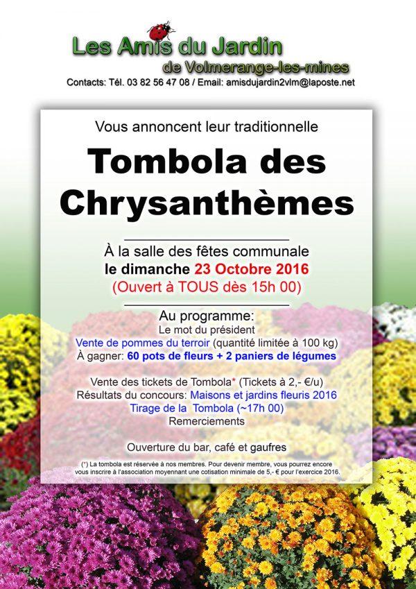 Les Amis du jardin de Volmerange: Tombola des Chrysanthèmes