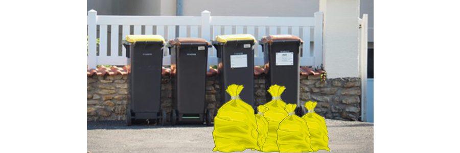 Rappel ramassage poubelles et sacs de tri