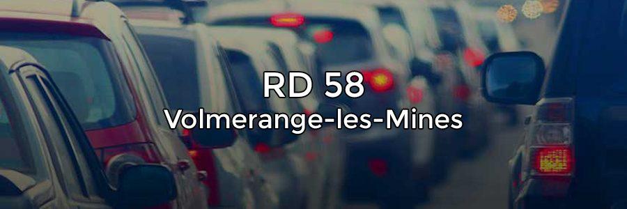 Évolution du trafic sur la RD58 vers le Luxembourg