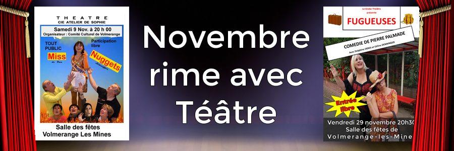 Novembre rime avec théâtre