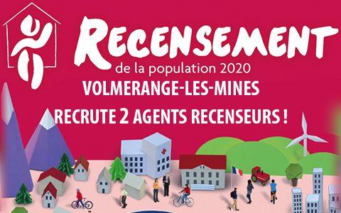 Recensement de la population 2020 – recrutement agents recenseurs