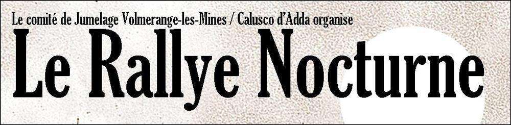 Comité de jumelage Calusco d'Adda : Rallye nocturne