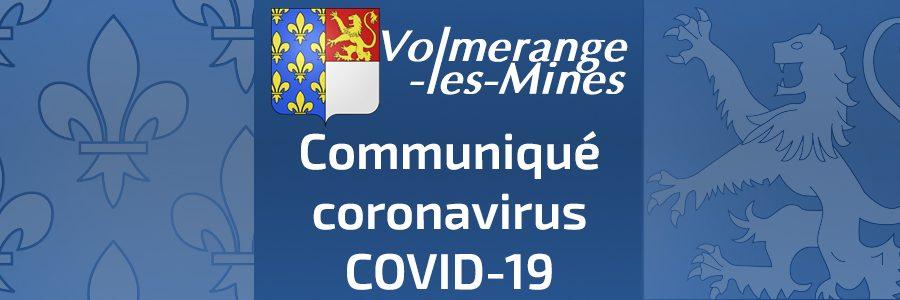Communiqué COVID-19 Volmerange-les-Mines