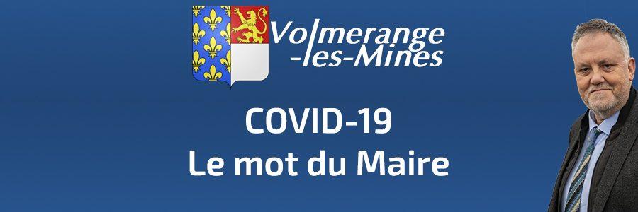 COVID-19 : Mot du Maire