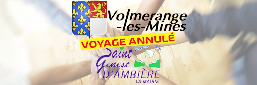 Annulation du déplacement à St Genest d'Ambière prévu à la Pentecôte 2020