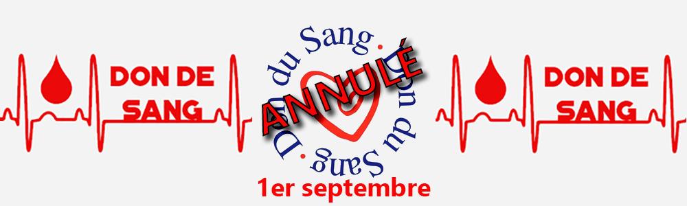 Annulation collecte de sang du 1er septembre