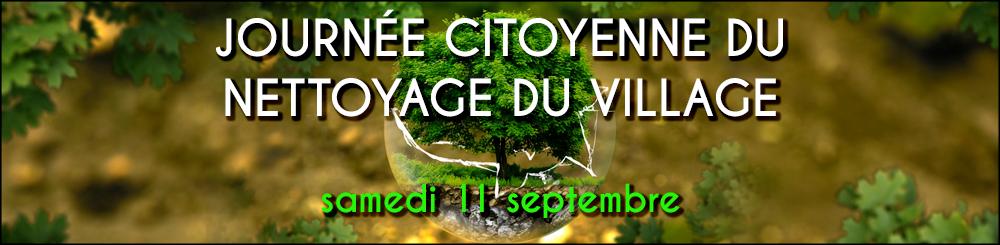 Journée citoyenne du nettoyage du village